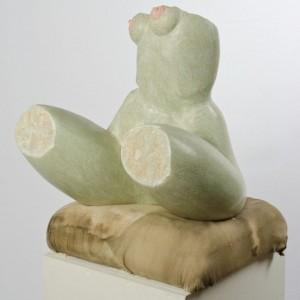 Körperfragment weiblich groß - 2000 - T55/B50/H60cm - Kalstein,Kalk,Pigmente